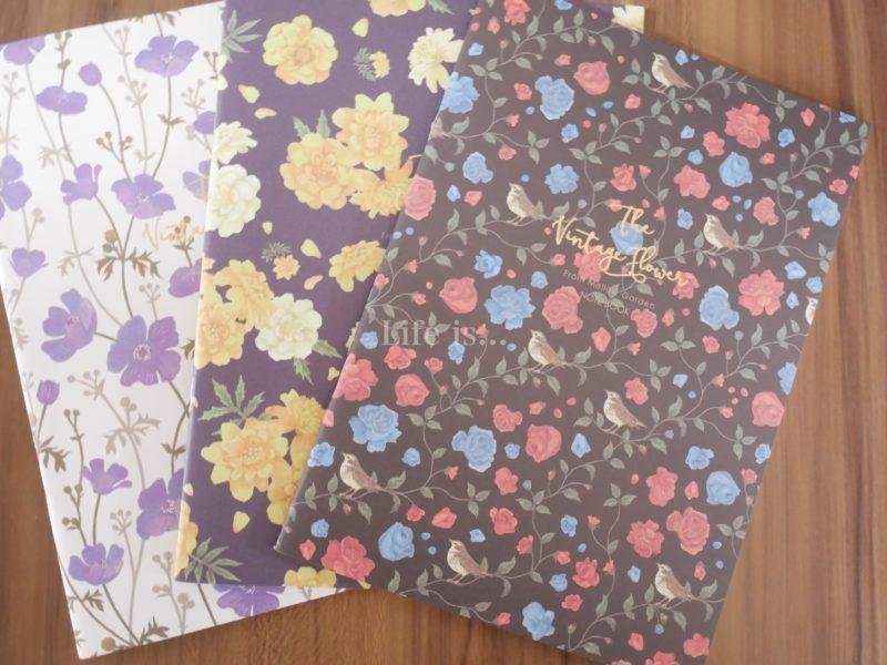 花柄ノート