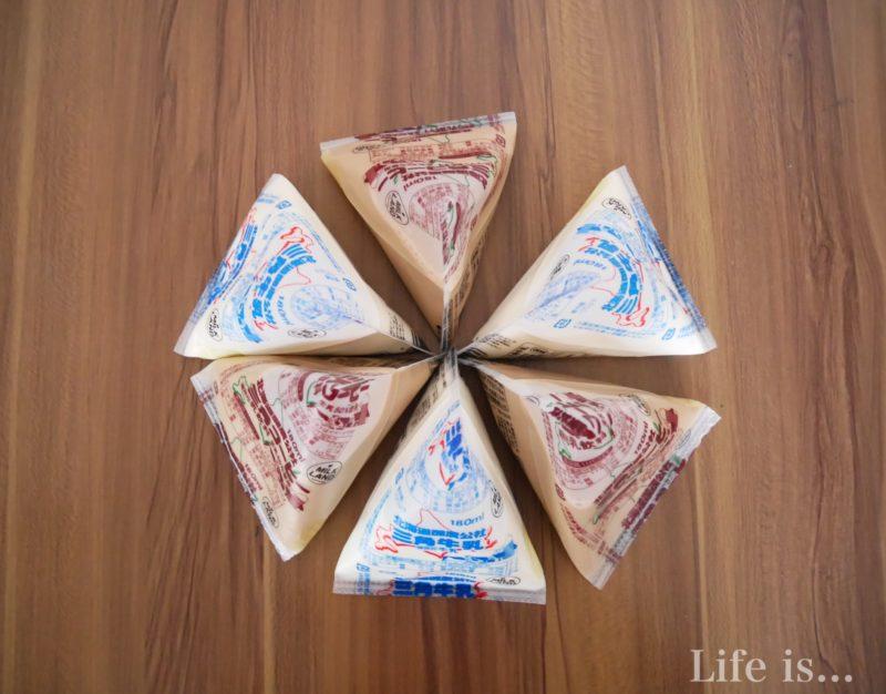 三角牛乳と三角コーヒー