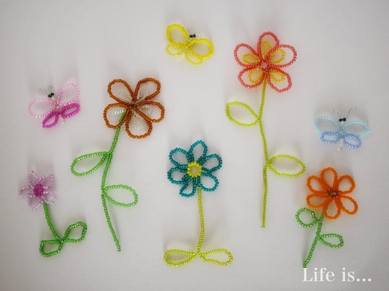 ビーズモチーフ花