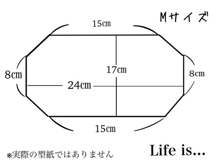 3dマスクの型紙Mサイズ